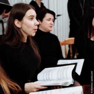 Bild einer Chorprobe